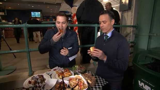 [NECN] NBC10 Boston Reporters Sample New Fenway Park Food Items