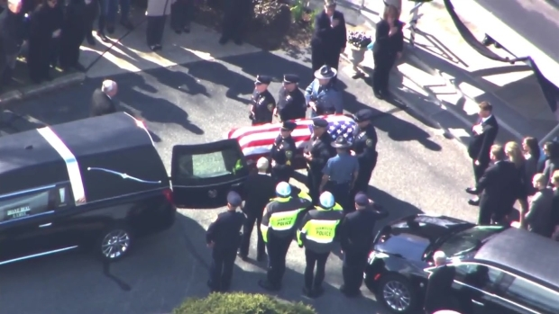 [NECN] Officer Sean Gannon's Body Arrives at Wake