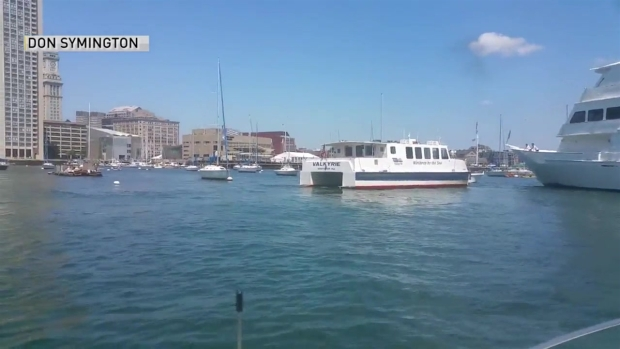 [NECN]WILD VIDEO: Cruise Ship Hits Moored Boats in Boston Harbor