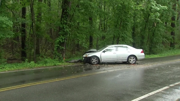 [NECN] 3 Hospitalized After Car Strikes Tree in Boxford