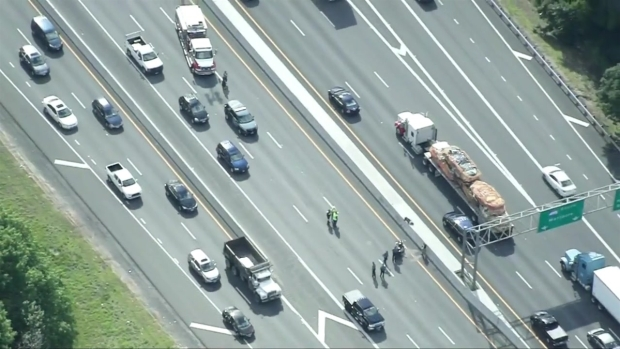 [NECN] Motorcycle Crash Shuts Down Interstate 495 in Chelmsford