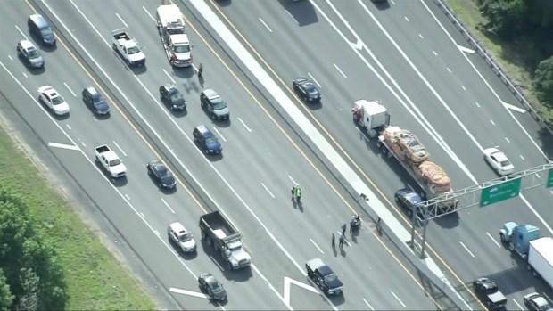 [NECN] Motorcycle Crash Shuts Down Interstate 495 in Chelmsford