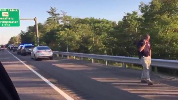 [NECN] Man Shot on Highway in West Bridgewater