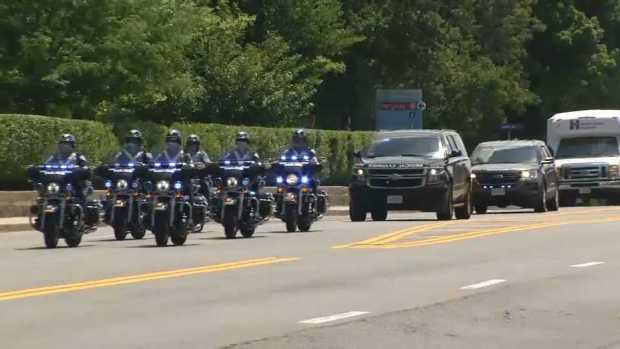 [NECN]WATCH: Procession for Slain Weymouth Officer