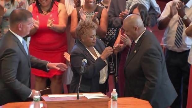 [NECN]WATCH: William Gross Sworn In as Boston's First Black Police Commissioner
