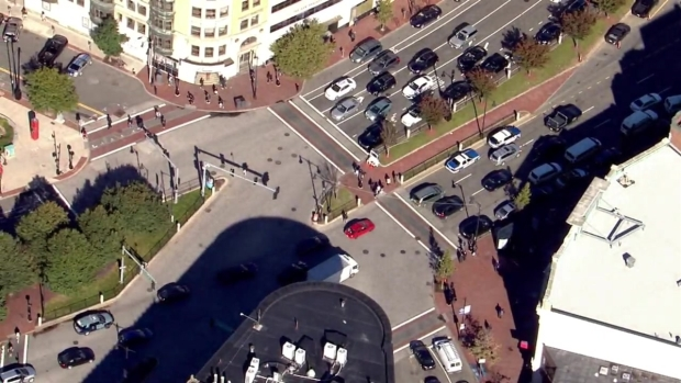 [NECN]AERIAL VIDEO: Police at Boston University for Report of Possibly Armed Person