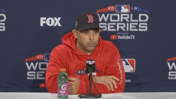 [NECN] Alex Cora Talks About Chris Sale, World Series