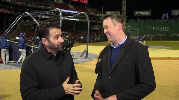 [NECN] Lou Merloni Talks Pitching in Cold Temps, Alex Cora