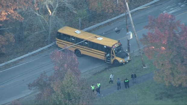 [NECN] Sky Ranger: School Bus Crash in Andover
