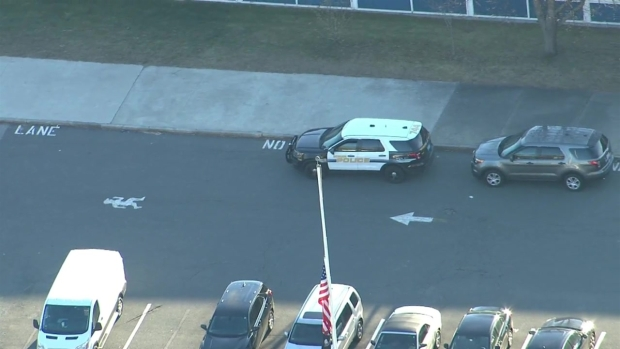 [NECN]Sky Ranger Video Over Scene of Middle School Stabbing in Woburn