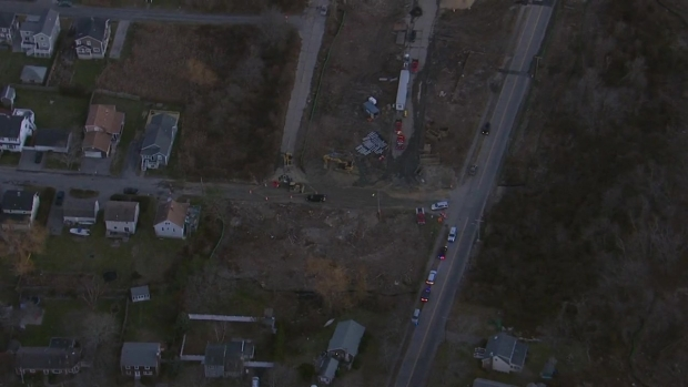 [NECN] NBC10 Boston Sky Ranger Over Scituate Construction Accident