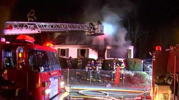 Firefighters Battle Multi-Alarm Blaze in Avon, Mass.
