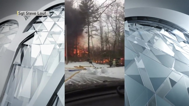 [NECN]3-Alarm Fire Destroys Manchester-by-the-Sea Structure