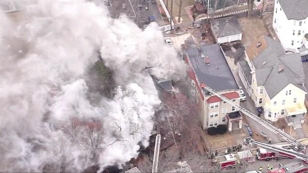 [NECN]Smoke Pours From Roxbury House Fire