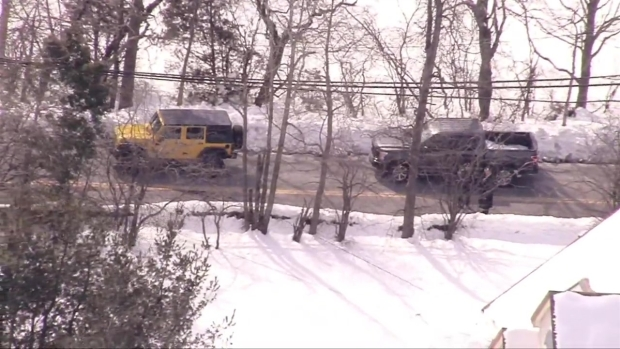[NECN] Authorities at Scene of Road Rage Incident That Launched School Lockdowns