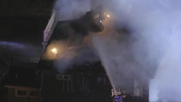 [NECN] Crews Fight Fire in Hull