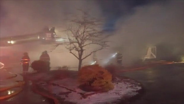 [NECN]Dozens of Fire Companies Help Battle Inferno at Family-Run Farm