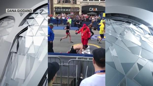 [NECN] INCREDIBLE: Marine Veteran Crawls to Boston Marathon Finish Line