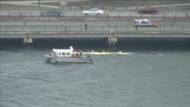 [NECN] Officials Respond to Capsized Boats on Charles River