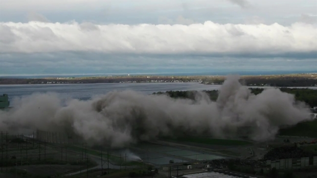 [NECN] Cooling Towers Demolished in Controlled Implosion
