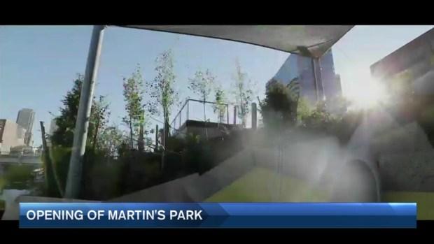 [NECN] Gov. Baker and Mayor Walsh Dedicate Martin's Park in Boston