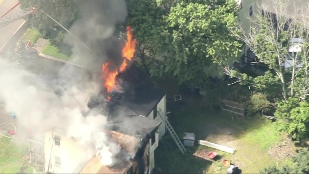 [NECN] Firefighters Respond to Structure Fire in Walpole, Mass.
