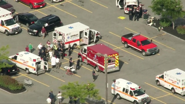 [NECN] Emergency Crews Respond to Gas Leak at Rowley Market Basket