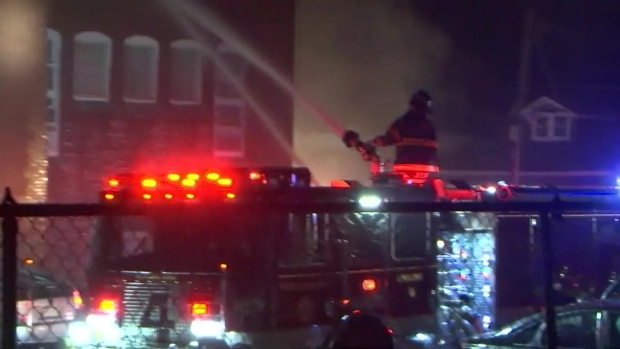 [NECN] VIDEO: Flames Tear Through Roof of Fitchburg Apartment Building
