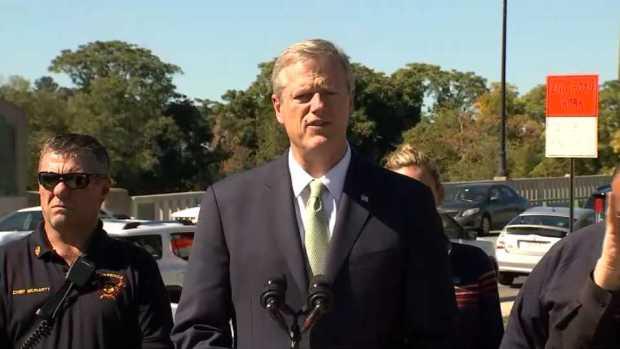 Gov. Charlie Baker Discusses Lawrence Gas Leak