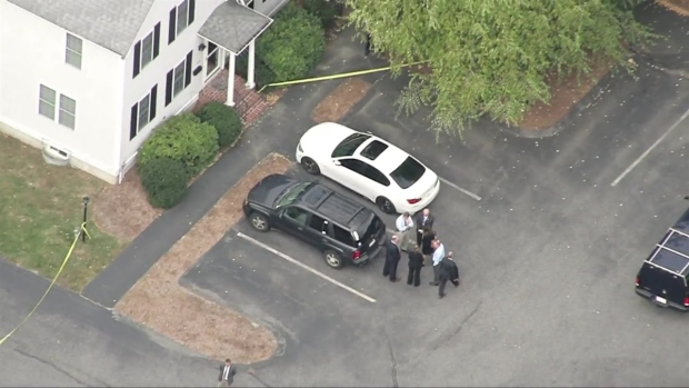 [NECN] Large Police Presence Outside Apartment Complex in Abington, Mass.