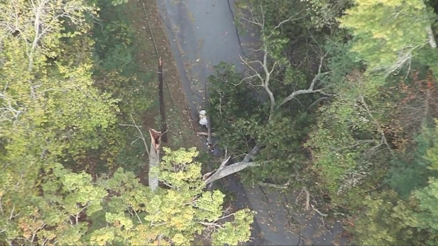 [NECN] Aerial Footage Shows Damage From New England Storm