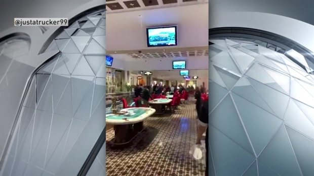 [NECN] Water Pours From Casino's Ceiling