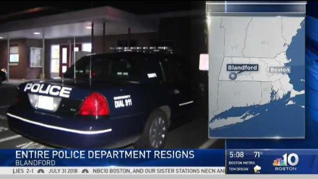 Blandford Police Department Suddenly Resigns