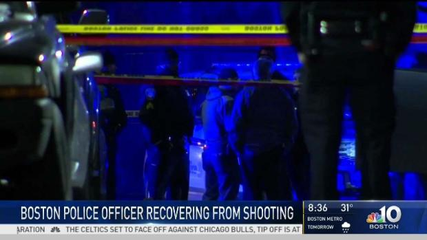 [NECN] Boston Police Officer Recovering from Shooting