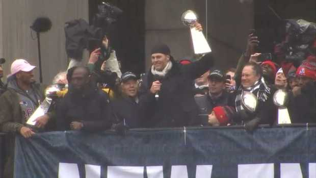 Brady at Rally: 'We Brought It Home'