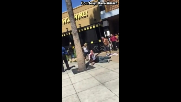 Men Brawl Outside Buffalo Wild Wings