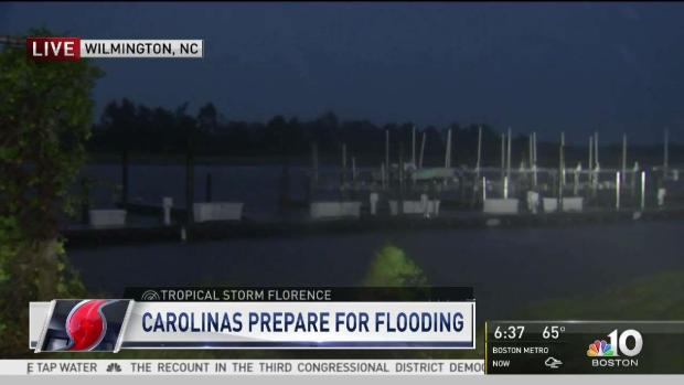 [NECN] Chris Gloninger Reports as Florence Threat Continues