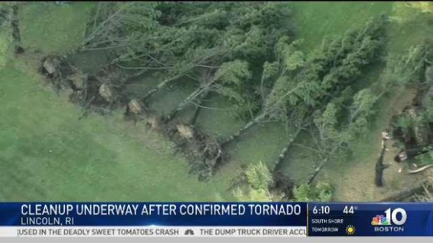 [NECN] Cleanup Planned for New England Tornado Damage