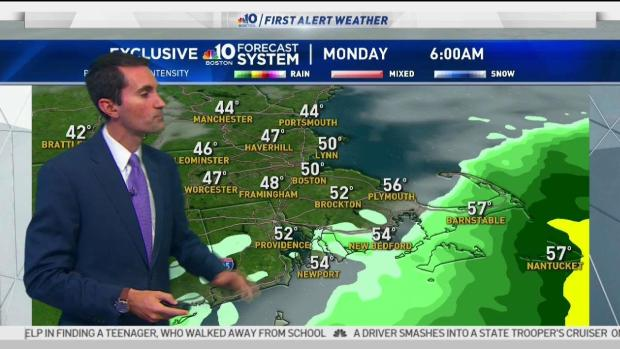 [NECN] Clouds Increase with Overnight Chance of Rain