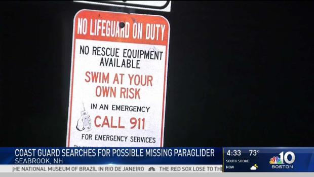 [NECN] Coast Guard Search For Possible Missing Paraglider
