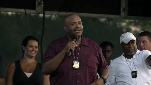 [NECN] Commissioner Gross Attends Night Out Events on 1st Day