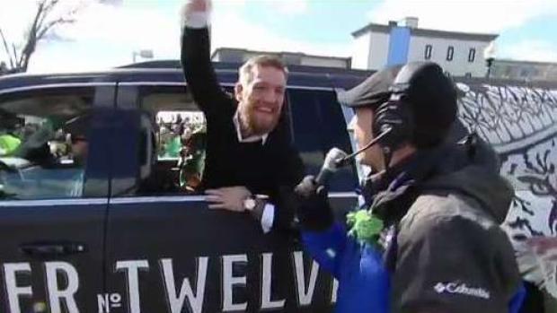 Conor McGregor Participates in St. Patrick's Day Parade