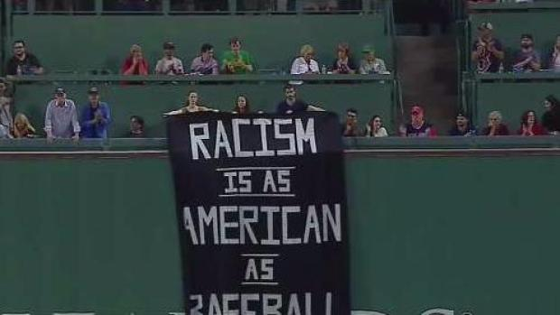 [NECN] Controversial Sign on Display at Fenway Park