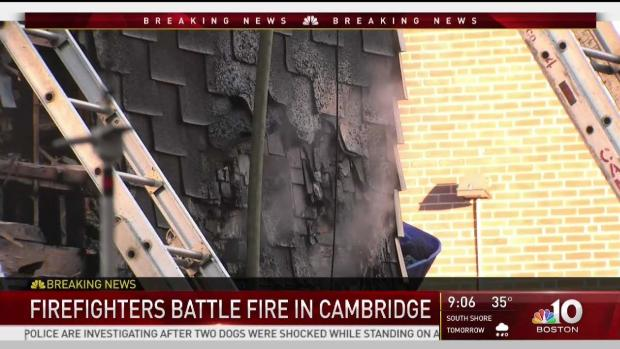 [NECN] Crews Battle 3-Alarm Fire in Cambridge