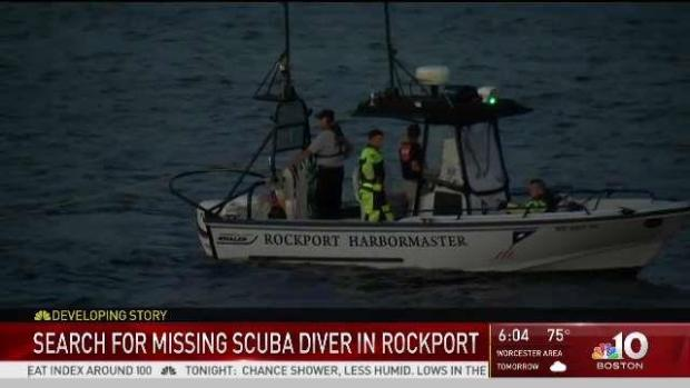 [NECN] Crews Continue Search for Missing Diver in Rockport