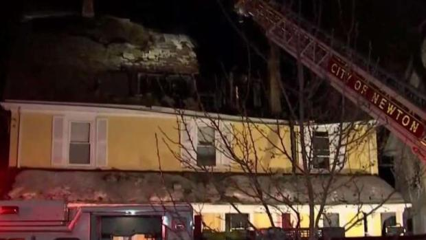 [NECN] Crews Respond to 3-Alarm Fire in Newton