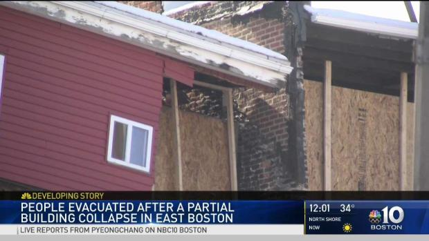 [NECN] Crews Respond to Partial Building Collapse in E. Boston