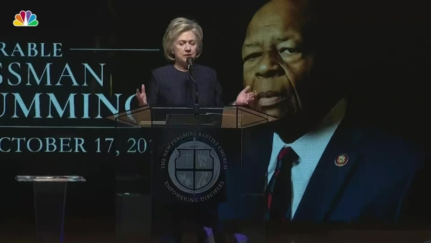 [NATL] Hillary Clinton: Rep. Elijah Cummings 'Led From His Soul'