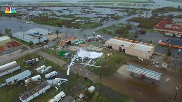 [NATL] Drone Footage Captures Damage in Aransas Pass, Texas