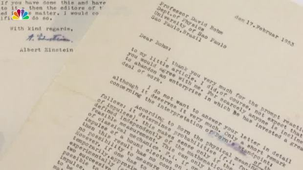 [NATL] Einstein Letters Go Up for Auction